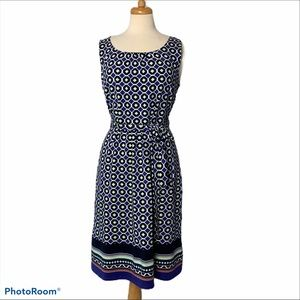TALBOTS Belted Knee Length Dress - L